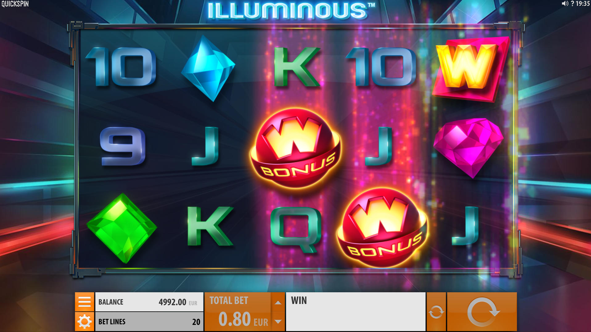 A slot game